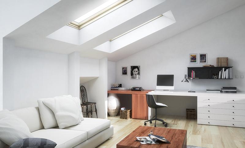 Modern loft extension. Building services by Studio Charrette.